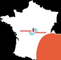 Zone de livraison Distrigaz