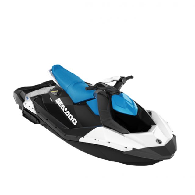 SEADOO SPARK 90hp 3 up iBR White / Gulfstream Blue