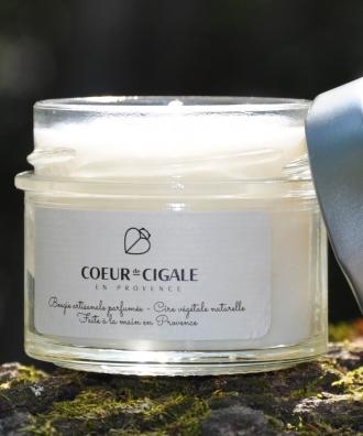 Bougie naturelle 100% végétale - Monoï Vanillé - 90g
